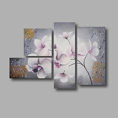 【今だけ☆送料無料】 アートパネル  静物画4枚で1セット グレイ 白い お花 ピンク【納期】お取り寄せ2~3週間前後で発送予定