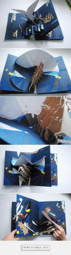 Moby-Dick pop-up book on Behance