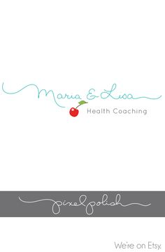 Handwritten name logo design with a cherry on top!
