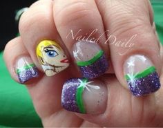 - Tinkerbell French cute!! I so want this done to my nails lol