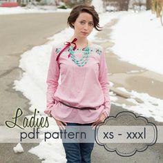 Ladies Quick Dress & Top  knit or woven INSTANT DOWNLOAD  xs - xxxl by jocole