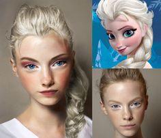 elsa from frozen make up