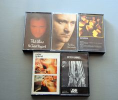 #Genesis #PhilCollins #PeterGabriel Lot 5 Cassette Tapes But Seriously No Jacket