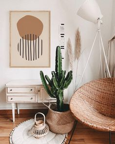 Art Mural Orange, Art Minimaliste, Boho Chic, Orange Walls, Bedroom Orange, Terracota, Home Office, Office Desk, Botanical Wall Art