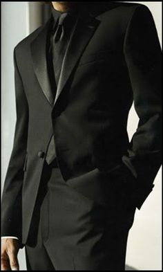 Black on Black suit  http://www.menssuitstips.com