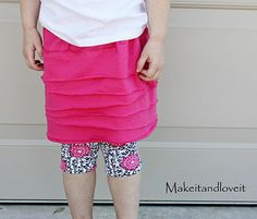 layered knit skirt