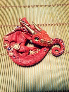 Red Baby Dragon by MakoslaCreations on Etsy, $45.00