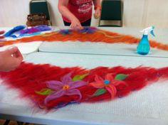 Felt scarf made during our felting workshop Summer 2014