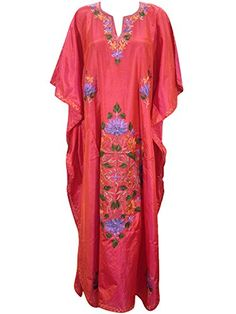 Bohemian Caftan Kashmiri Embroidered Silk Kaftan Kimono Resortwear Womans Dress Xl Mogul Interior http://www.amazon.com/dp/B013DPVL7E/ref=cm_sw_r_pi_dp_VQEXvb1HHHJRC