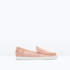 ZARA - IT¨S MID SEASON - FLAT LEATHER SHOES