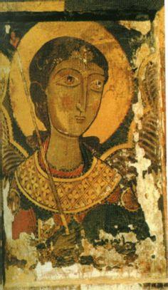 Архангел Михаил из церкви Архангелов в селении Ипрари, Сванетия конец 14 - нач. 15 века