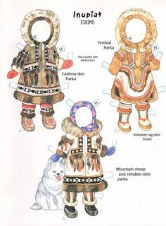 Inuit Paper doll --online coloring, but it has an option to print outline that…