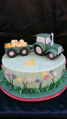 Die 32 besten Bilder von Traktor Torte  Birthdays Tractor cakes und Birthday cakes