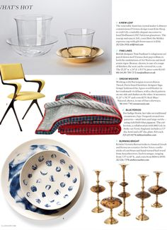 US Elle Décor - November 2014 What's Hot, Despatches from the World of Design.