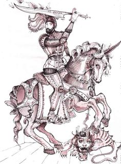 Swide's Saint of the Day Calendar: Saint George 23rd April - Saint George is venerated as the patron saint of knights, soldier and archers.