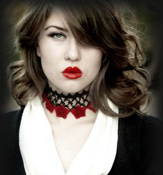 Rose Red gothic lace choker by AmiKami on Etsy, $75.00
