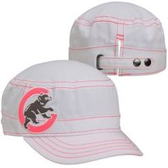 New Era Detroit Tigers Ladies Fashion Chic Cadet Adjustable Hat - White Detroit Tigers Hat, Cubs Gear, Tiger Lady, Chicago Cubs Fans, Cubs Shirts, Military Fashion, Military Style, Ladies Fashion, Womens Fashion