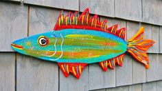 FOLK FiSH WOOD CUT-OUT~Maine FOLK ART outsider~COASTWALKER