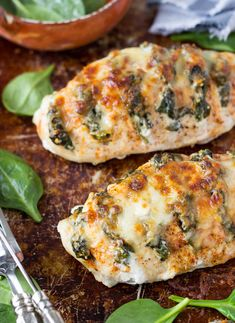 Spinach   Goat Cheese Hasselback Chicken