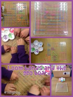 Loom bands at the Finger Gym area - good idea! Fine Motor Activities For Kids, Motor Skills Activities, Gross Motor Skills, Math Activities, Eyfs Classroom, Maths Eyfs, Numeracy, Early Years Maths, Finger Gym