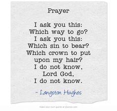 """Prayer"" by Langston Hughes"