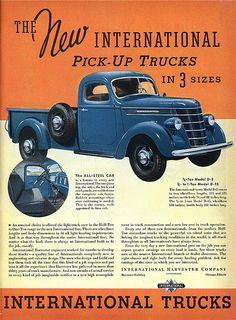 1937 International Trucks Ad.