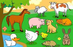 Pipo animales domésticos ukaž a pojmenuj co vidíš ребусы, логопедия, дети. Animal Pictures For Kids, Farm Pictures, Animal Activities, Animal Crafts, Animal Sketches, Animal Drawings, Baby Animals, Funny Animals, Animal Cartoon Video