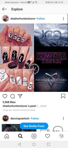 Empowering Songs, Vampire Diaries Funny, Shadowhunters The Mortal Instruments, Bellarke, Laptop Wallpaper, Shadow Hunters, Creative Nails, Cute Nails, Stranger Things