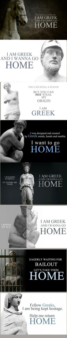 Parthenon Marbles stolen from the Acropolis by Lord Elgin, and still haven't been returned. Currently still stuck in the British Museum Go Greek, Greek Life, Ancient Greek Art, Ancient Greece, Parthenon, Acropolis, Greece Country, Old Posters, Greek House