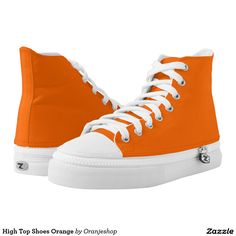 High Top Shoes Orange. Basketbal schoenen Oranje.