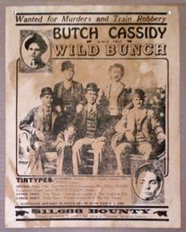 Butch Cassidy Wild Bunch Wanted Poster