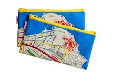 HAIFA Pencil Case zipper pouch printed fabric with by efratul, $14.00