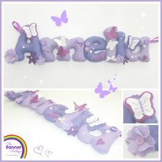 Personalised felt name banner by The Banner Boutique