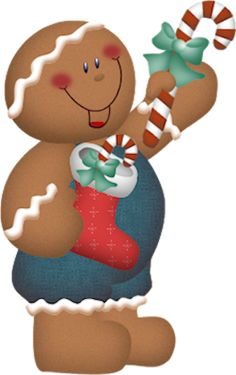 CHRISTMAS GINGERBREAD MAN CLIP ART