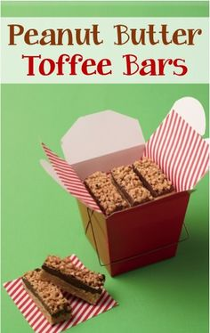 Peanut Butter Toffee Bars make the perfect little treat… and fabulous boxed up gift, too!