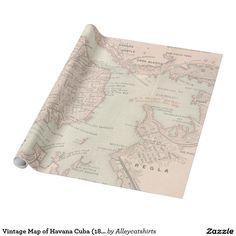 Vintage Map of Havana Cuba (1898) Wrapping Paper