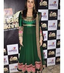 Buy Green with Embroidery jari work Kareena kapoor Georgette Suit bollywood-salwar-kameez-online online