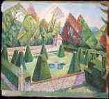 The Pyramid Garden. By Marevna. Athelhampton House. Dorset.