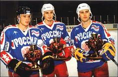 Bure, Fedorov, and Mogilny. Together, they would have made the scariest, most amazing line ever in the NHL.  KLM Version 2.0