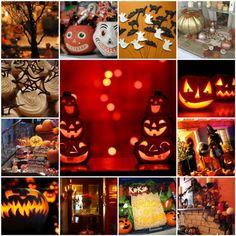 Kürbis-Süßigkeiten-Halloween