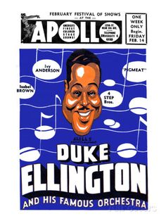 Apollo Theatre Newspaper Ad: Duke Ellington and Orchestra, Isabel Brown, Ivy Anderson and More Posters sur AllPosters.fr
