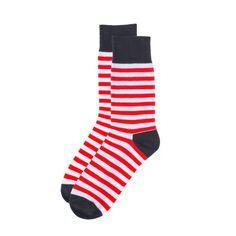 Mr.ZZ Men's Fashion Dress Socks Red Stripes
