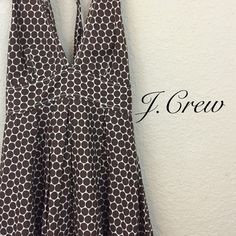 J. crew dress price firm J crew empire waist polka dot chocolate dress size 4 $109 J. Crew Dresses