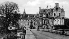 Old photograph of Cullen House, Moray, Scotland