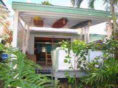 Front view of home from walking up from beach - Sunset Beach bungalow rental