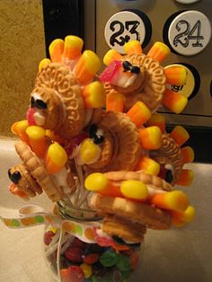 I bet kids would love to eat these turkeys.