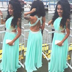 Beautiful Prom Dress, mint green prom dresses backless evening gowns sexy formal dresses beaded prom dresses 2018 fashion evening gown open backs evening dress Meet Dresses Mint Prom Dresses, Sexy Formal Dresses, Open Back Prom Dresses, Formal Evening Dresses, Party Dresses, Dresses 2016, Homecoming Dresses, Chiffon Dresses, Chiffon Gown