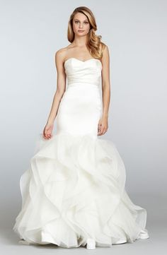 Sweetheart Mermaid Wedding Dress  with Natural Waist in Silk Satin. Bridal Gown Style Number:32904880