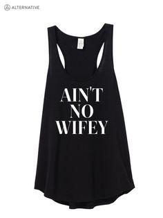 AIN'T NO WIFEY print on alternative brand Jersey by printopia1225