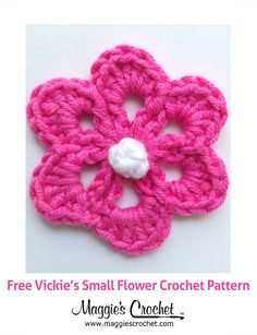Vickie's Small Flower Free Crochet Pattern